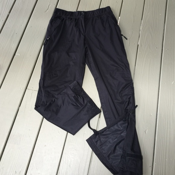 Adidas climaproof rain black pant Men's S Womens 8