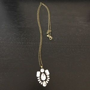 Long J.Crew crystal necklace