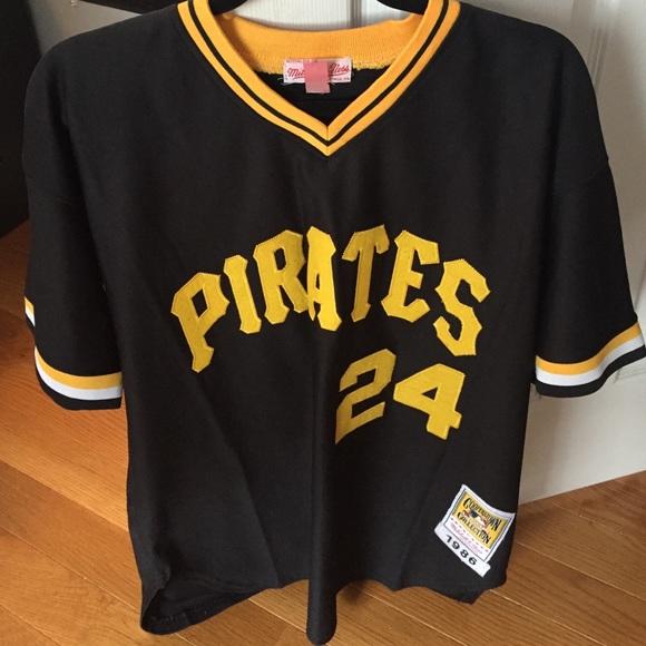 premium selection 893b8 8ba76 Mitchell&Ness Barry Bonds Pirates jersey size 48