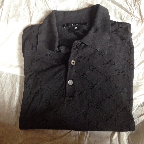 295fd766 Gucci Shirts | Mens Logo Button Up Shirt Short Sleeves | Poshmark