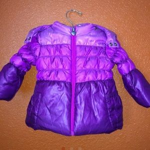 Babies R Us Purple Puffy Bow Coat 6-9 Months