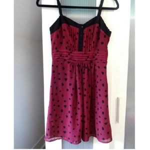 Urban Outfitters Maroon Polka Dot Dress Sz 0