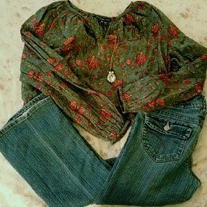 american living Tops - American Living peasant blouse