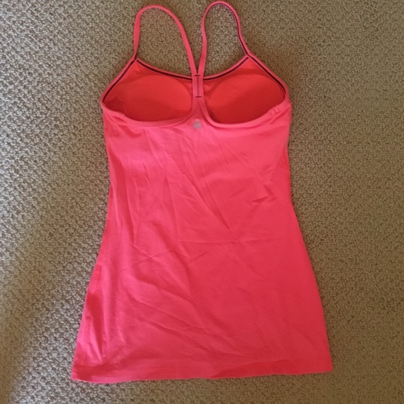 42 off lululemon athletica tops bright lulu tank with for Shirts with built in sports bra