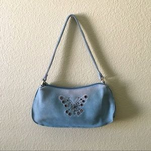 Genuine leather butterfly bag
