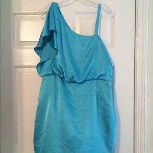 Fun blue party dress