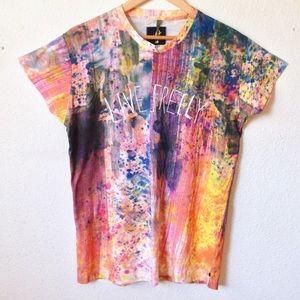 One Teaspoon Live Freely paint splatter shirt