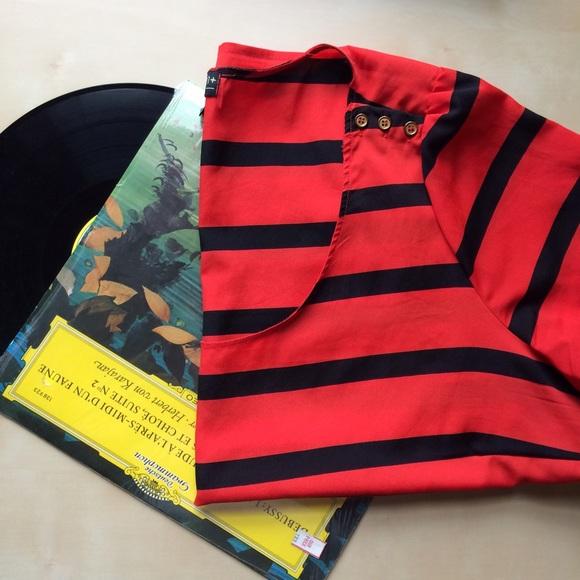 Forever 21 Tops - Orange and black striped shirt