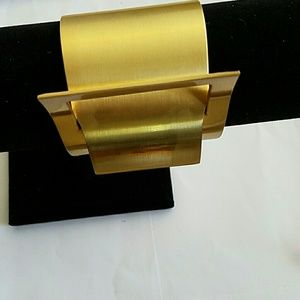 Brass Gold cuff bracelet brand new