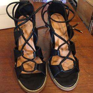 Black scrappy heels