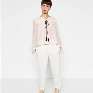 ❤️HOST PICKZara Embroidered Linen Jacket
