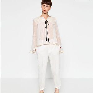 Zara Jackets & Blazers - ❤️HOST PICK🎈🎈Zara Embroidered Linen Jacket