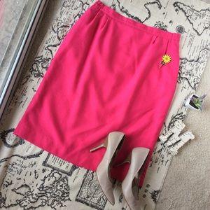 Vintage Dresses & Skirts - Vintage Plus Size Hot Pink Pencil Skirt