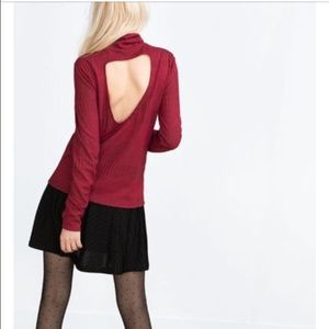 Zara Tops - Zara TRF open back red top