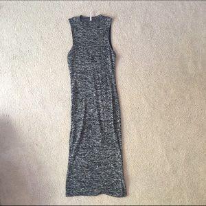 ZINGA Dresses & Skirts - Knit Heather Grey Bodycon Midi Dress