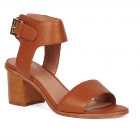 c12844869f25 NEW JOIE  Bea  Camel Mid-Heel Block Sandal Shoes