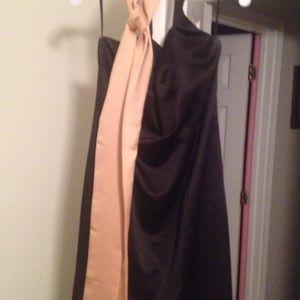 Impression Bridal Dresses & Skirts - Formal black halter gown with sash