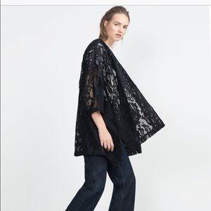 Zara Jackets & Blazers - Zara Basic Full Lace Kimono🙏🏻