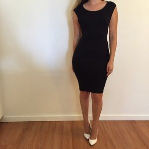 Dresses & Skirts - Black Side Cut Out Midi Dress