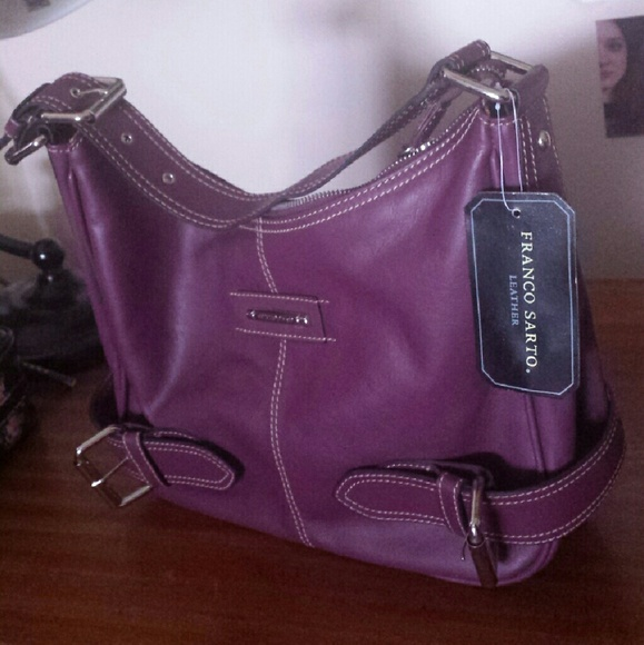 df2d1a188a Franco Sarto leather purse purple TAGS ON. NWT