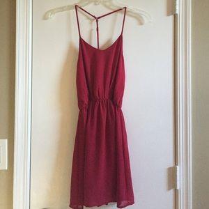 Red Tobi Chiffon Dress