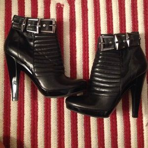 7 for all mankind black booties 6