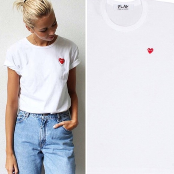 18e2cc9507a3 Comme des Garcons Play Little Red Heart T-Shirt