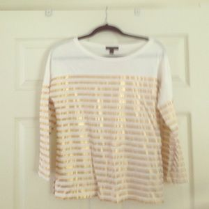 Jcrew gold striped t shirt