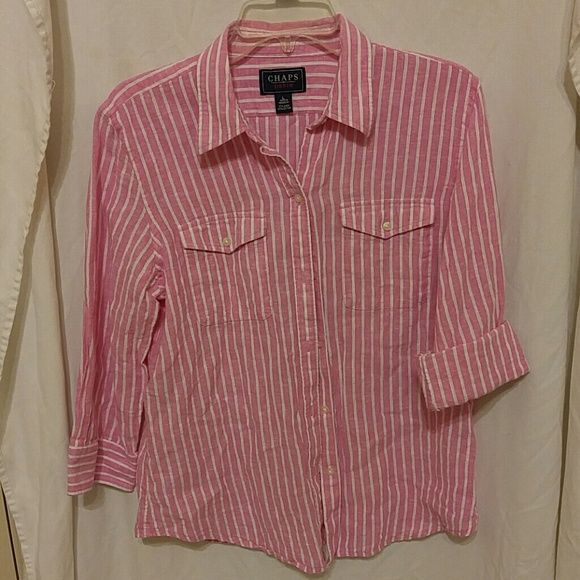 83 off chaps tops chaps button down shirt from gigi 39 s for Chaps button down shirts
