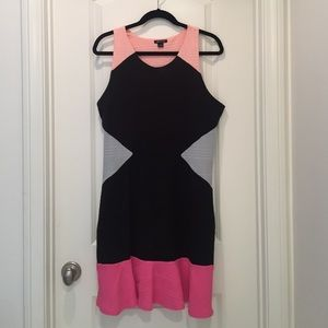I Heart Ronson size L sweater color block dress