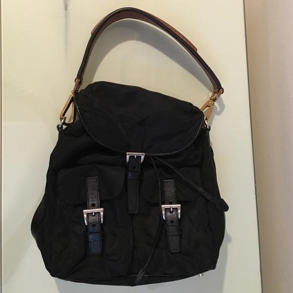 Authentic Prada backpack style purse. M 57b7965c56b2d6878e001010 4d07234c2d
