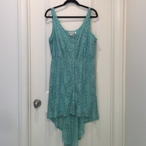 Dresses & Skirts - Size XL mint green lace high low dress