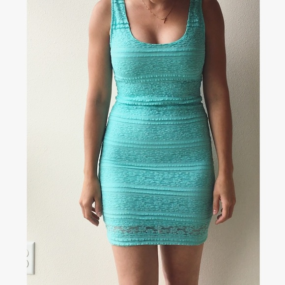 55% off Forever 21 Dresses & Skirts - Forever 21 Light Teal Lace ...