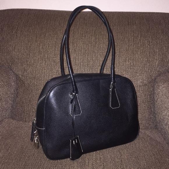 699ddfb2ccef Vintage Prada Bowling Bag. M 57b79af3ea3f36a8d10019ec