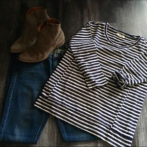 Madewell Structured Striped Pullover
