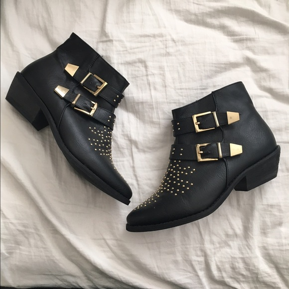 0410cf48e Forever 21 Shoes | F21 Studded Ankle Boots Chloe Susanna Dupes ...