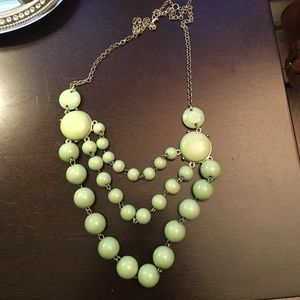 Light green statement necklace