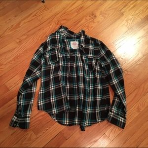 Tops - Black, Blue, and White Flannel