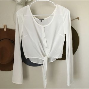 Tops - Pearly white blouse