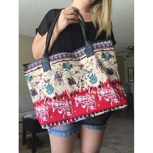 LAST ONE!! Gorgeous Floral Print Large Tote Bag