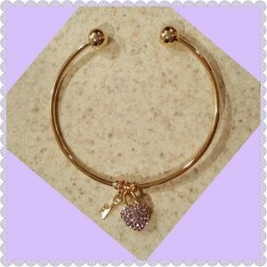 Jewelry - New GP Bracelet w/Lavender Stones & Key Charm