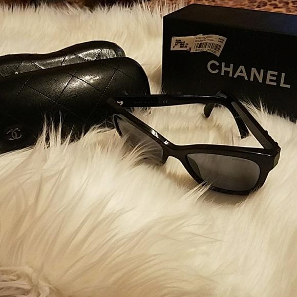 2fda1e60f5a Chanel Accessories - Chanel black butterfly Signature sunglasses