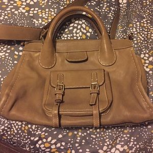 Chloe leather Edith with strap authentic