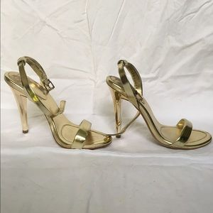 "BCBGeneration ""Rockie"" Metallic Gold Heels 5.5"
