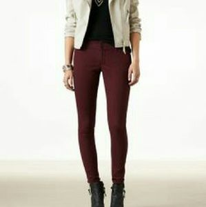 American Eagle Outfitters Denim - American Eagle Maroon Short Jegging