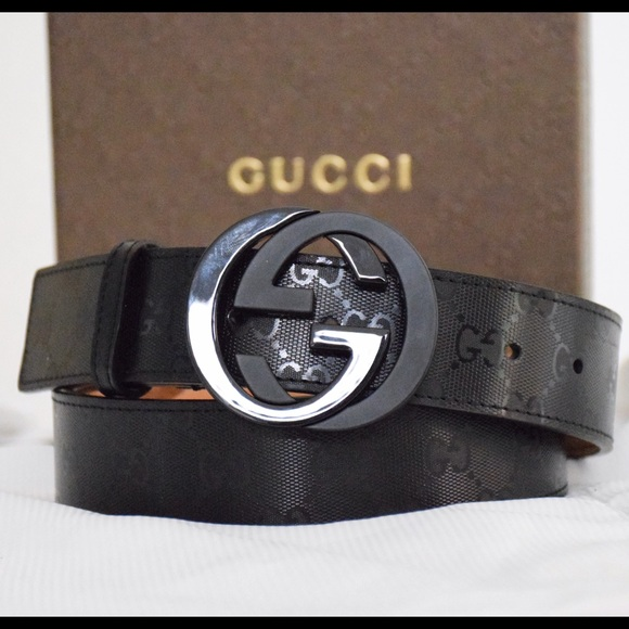 5fdfe51ed95 Gucci Other - Gucci GG Imprime Shiny Black Belt 30-34