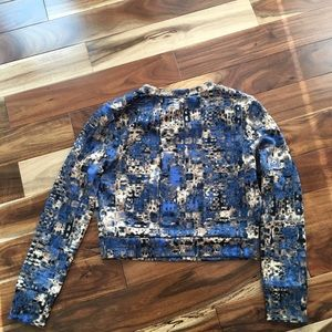 **MINT NEVER BEEN WORN** blue crop top long sleeve