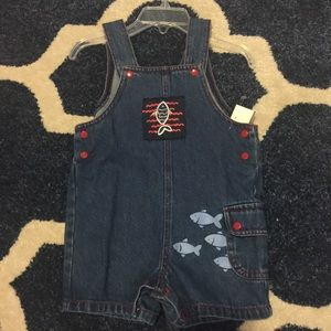 jcpenney Other - NEW🐟Jean 🐳overalls 🐠. So cute!! Snap bottom 🐳