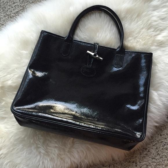 Longchamp Handbags - 🚨SALE🚨 Longchamp Roseau VerniPatent Leather Tote 62416049e56ac
