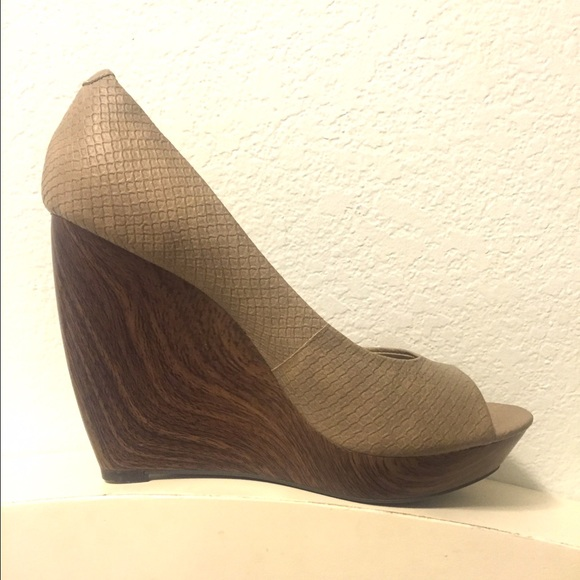 57% off Jessica Simpson Shoes - Jessica Simpson Wooden Wedge Heels ...